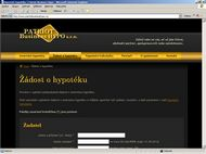 Screenshot webu Patriot Business Hypo - Žádost o hypotéku